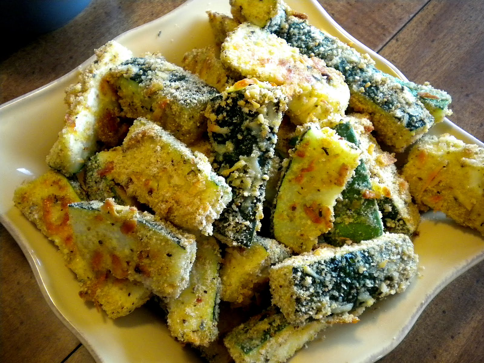 Mom Taught Us...: Oven Fried Zucchini Fries.