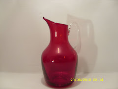 Whitefriars Ruby Jug 9648 SOLD