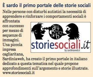 articolo storie sociali messaggero sardo marzo 2010