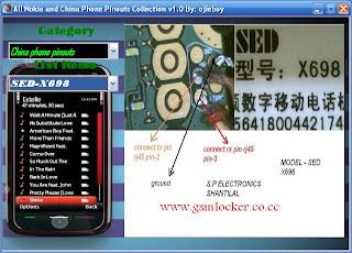 NokiaandChinaPhonePinouts