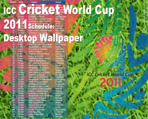 icc world cup 2011 schedule calendar. The ICC Cricket World Cup is