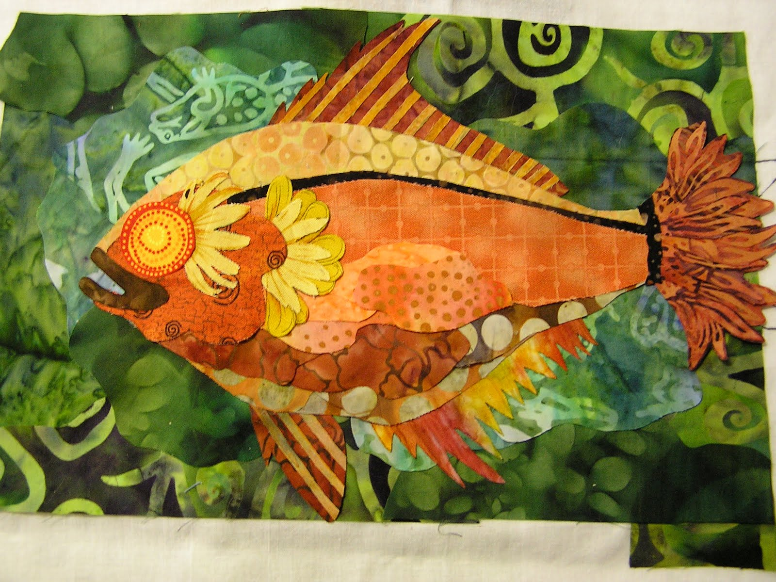 Quilt whimsy go fish for Susan s fish and chips