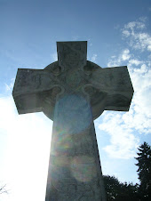 Celtic cross with orbs