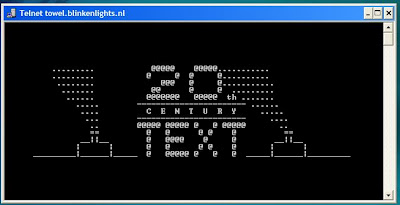 A Picture showing Star Wars in command prompt