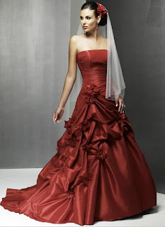 Bright Red Wedding Dress Fancy