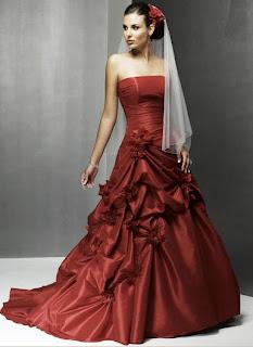 Bright Red Wedding Dress Fancy