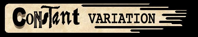 Constant Variation