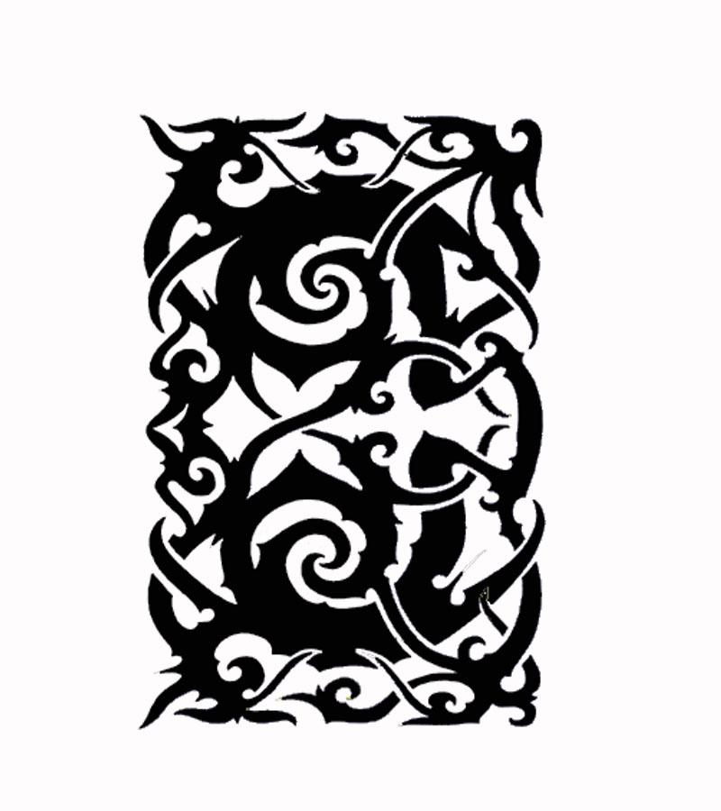native tribal tattoos the borneo native tattoo. Black Bedroom Furniture Sets. Home Design Ideas