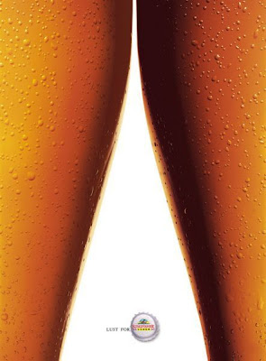 Kingfisher Lager's beer legs