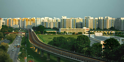 A typical  Housing and Development Board Estate, Singapore
