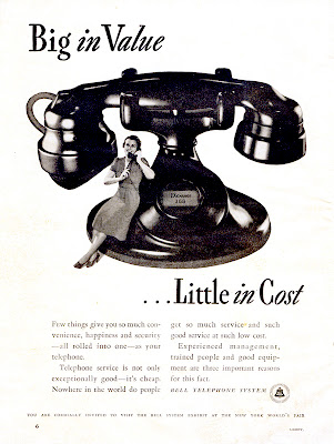 Interesting Vintage Advertisement of Bell telephone