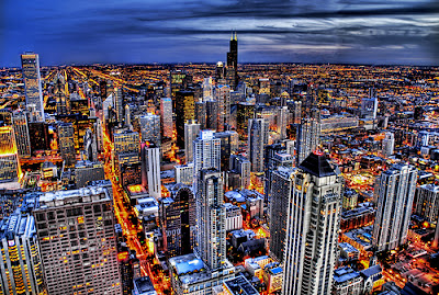 Amazing HDR of Chicago Nightscape