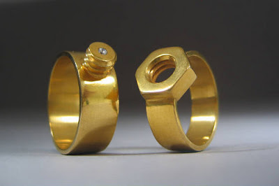 40 cool and creative rings 40 41 - Steampunk Wedding Rings