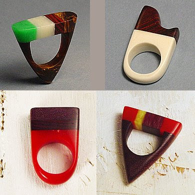 Wood and Plastic Rings