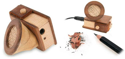 Speaker With Integral Pencil Sharpener