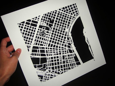 11 Creative and Cool Hand Cut Paper Maps (11) 10