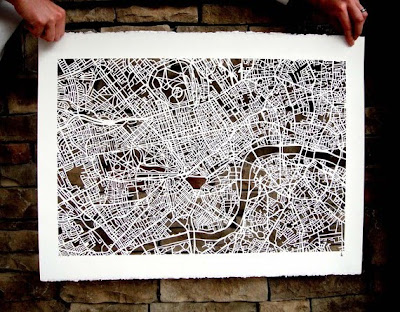 11 Creative and Cool Hand Cut Paper Maps (11) 5