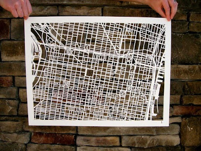 11 Creative and Cool Hand Cut Paper Maps (11) 6