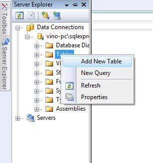 Create a new table