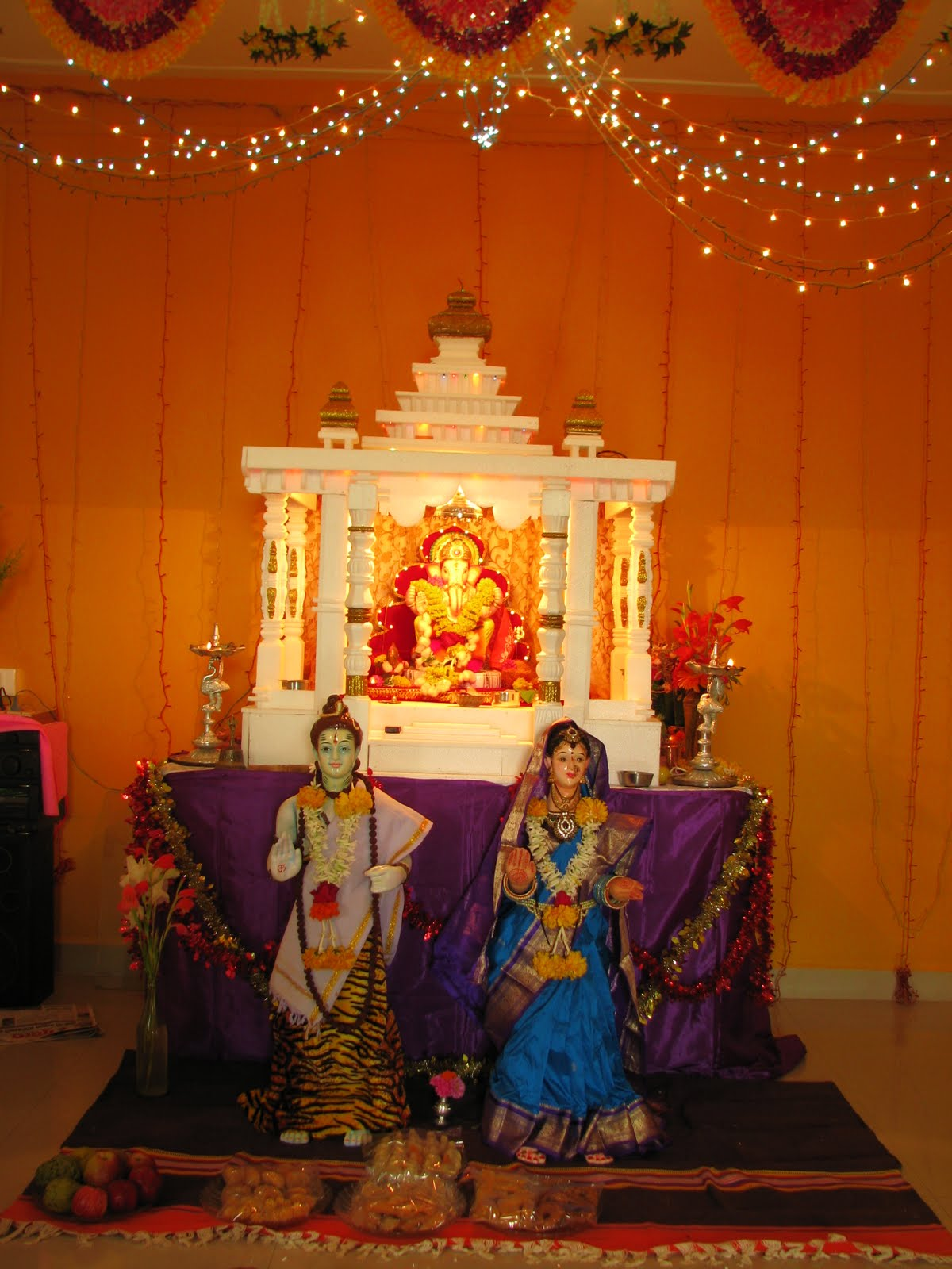 Ganpati pandal decoration ideas at home joy studio for Decoration ganpati