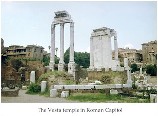 the vesta temple in roman capitol