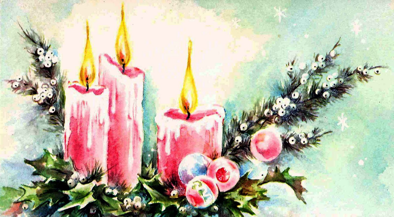 Very Merry Vintage Syle: Another {Pink} Vintage Christmas Card