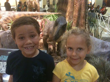Gabe, Mia, And A Dino