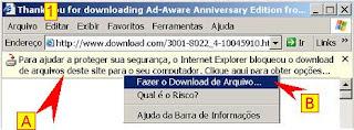 download bloqueado pelo internet explorer