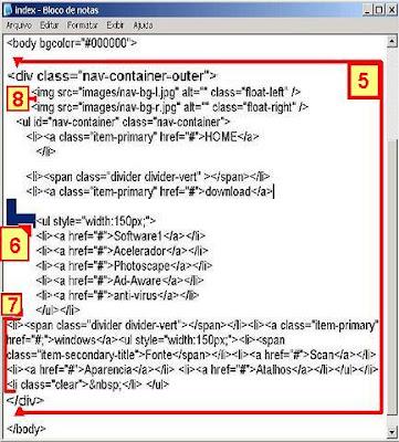 html div menu