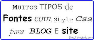 tipos de fontes para css de blogs e sites