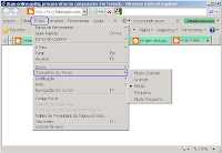 Aumentar o tamanho do texto com internet explorer 8, 7