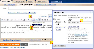 Adicionar um link na postagem do blogspot usando o draft.blogger.com