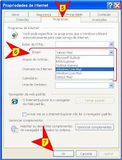 escolher programa padrao para abrir link e-mail