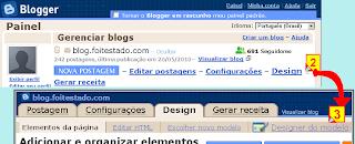 design de modelo no blogger