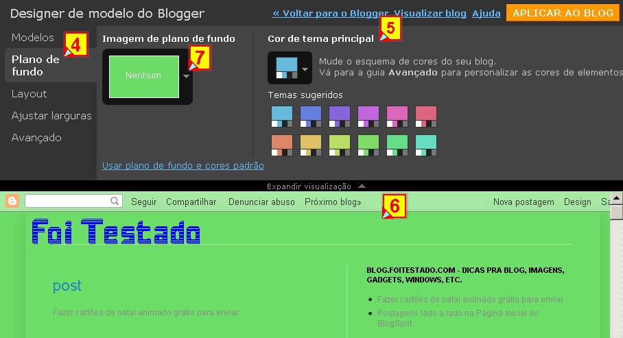 Colocar uma imagem ou fotos própria no blogger