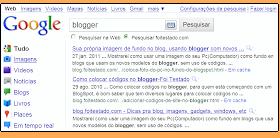 resultado de busca com formulario de pesquisa no google para blog ou site