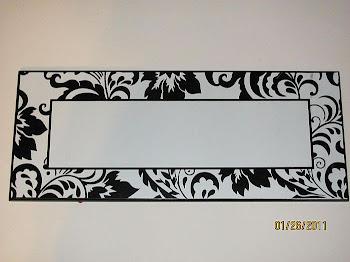 Black and White Bow Holder