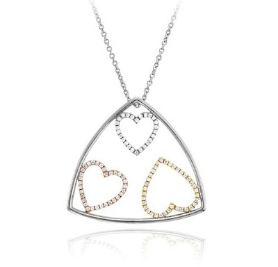 3 Hearts Diamond Necklace
