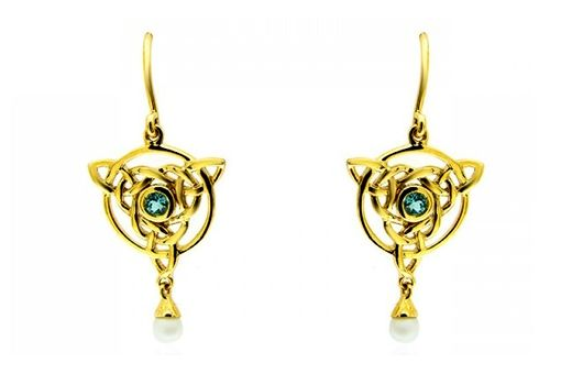 Blue Diamond Celtic Earrings