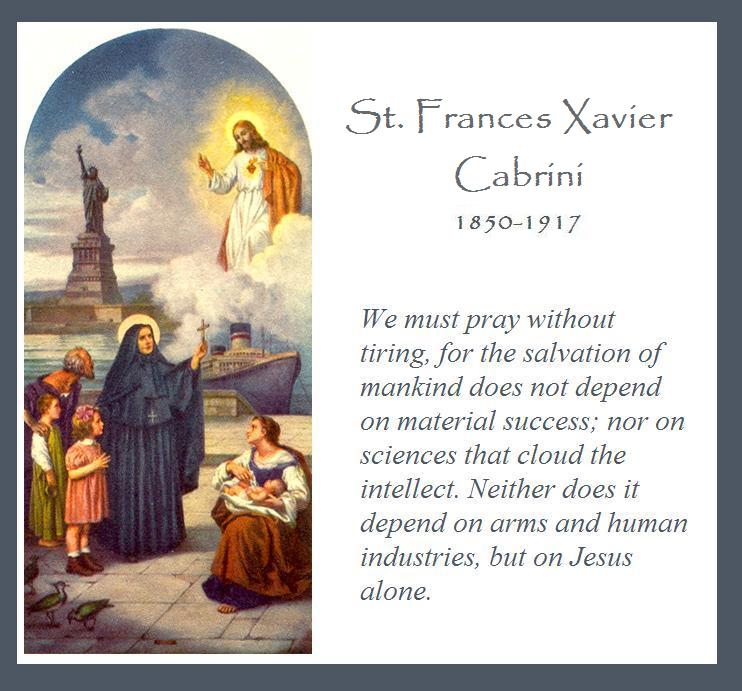 Kwgn Denver What Are You Praying For Today: Hilltop Farm: Feast Day: St. Frances Xavier Cabrini