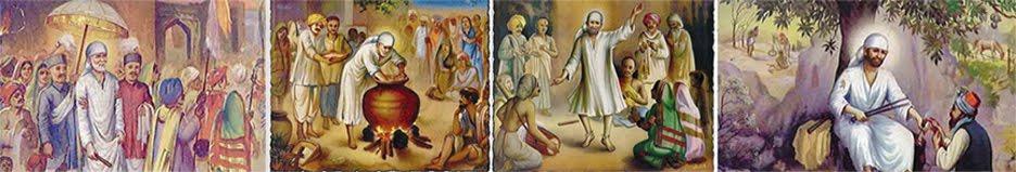 Paintings on the walls of samadhi mandir