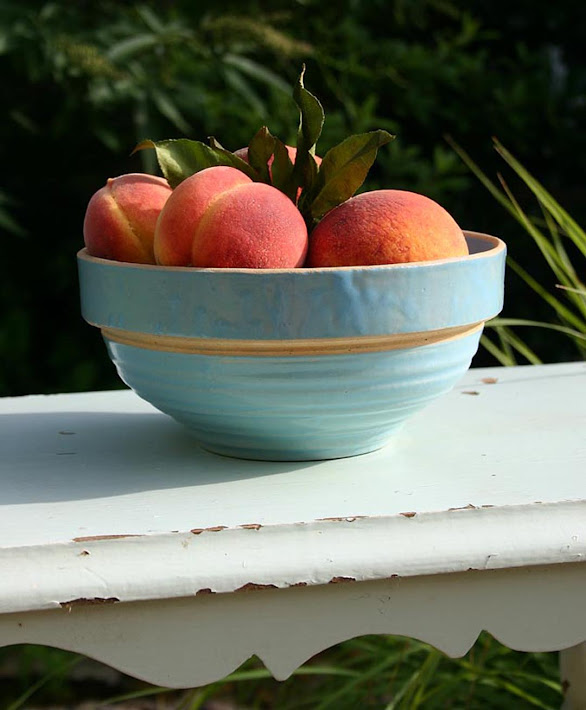 Peaches in My Grandmother's Bowl