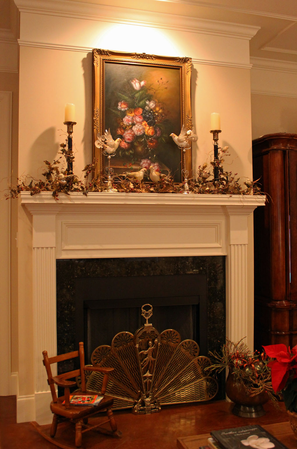 Southern lagniappe tv or not tv that is the question for How to decorate a fireplace for christmas