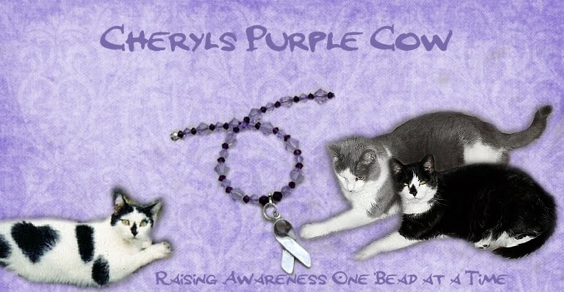 Cheryls Purple Cow - Raising Awareness One Bead At A Time