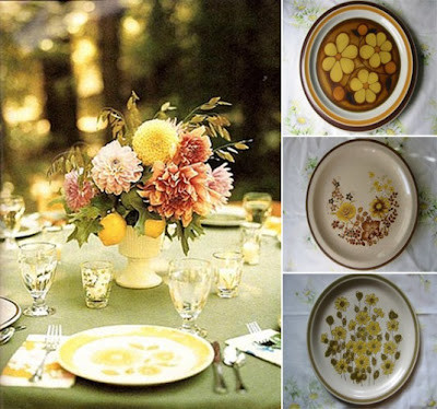 I want to collect vintage dinner and dessert plates for the big day