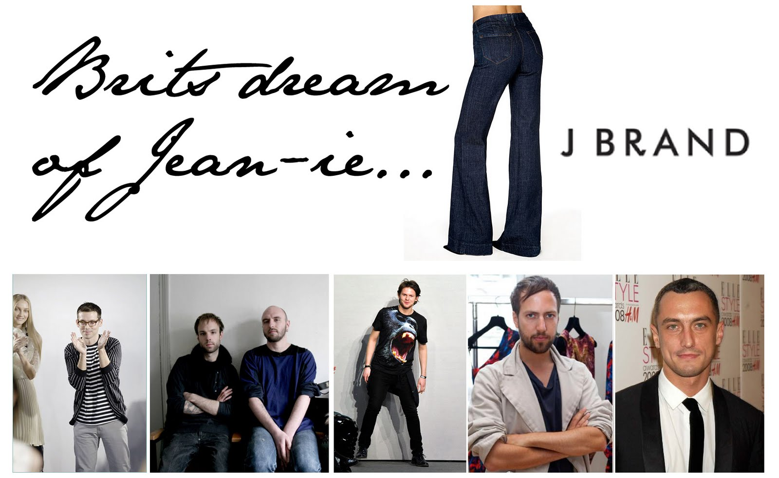 J brand collaborating with top british designers for Famous british designers