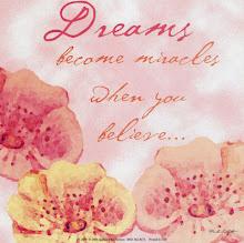 sonhos tornam-se milagres quando você acredita!
