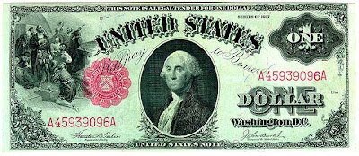 $1 currency note series of 1917 of the United States