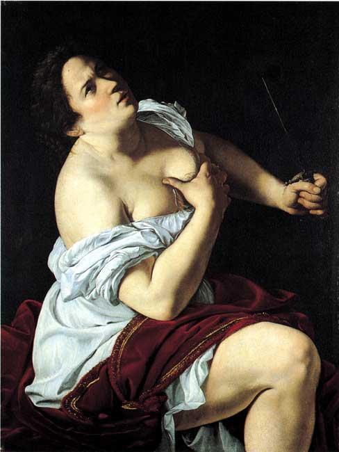 Traces d'Amande Lucretia,-1620-oil-painting-by-Artemisia-Gentileschi