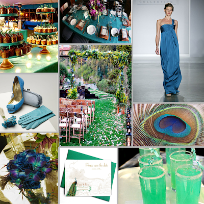 Tried and True Wedding and Event Planning Peacock Inspiration Board